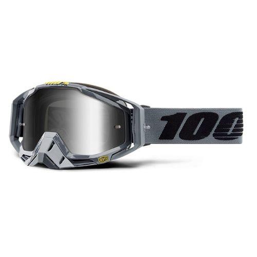 100% 100% Racecraft Goggle Nardo/Mirror Silver Lens