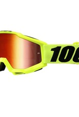 100% 100% Accuri Goggle Fluo Yellow/Mirror Red Lens