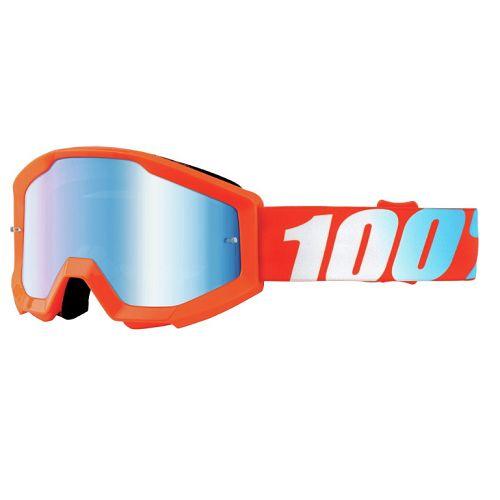 100% 100% Strata Jr Goggle Orange Mirror Silver Lens