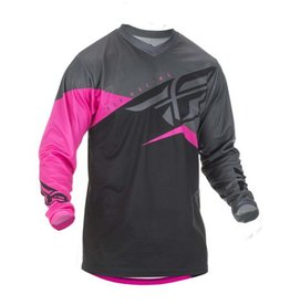 Fly Racing 2019 F-16 Jersey Neon Pink/Black/Grey