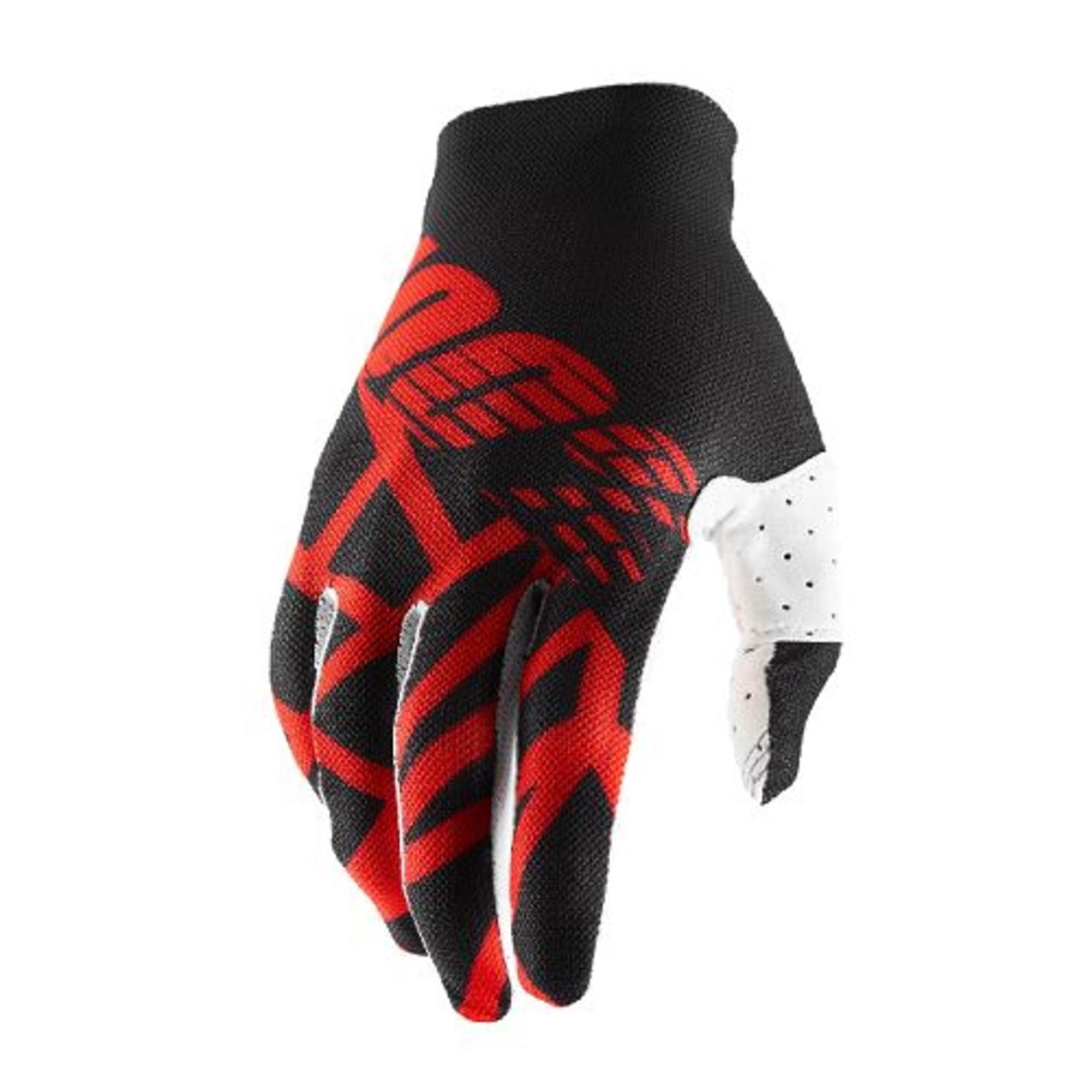 100% 100% Celium 2 Glove Black/Red/White