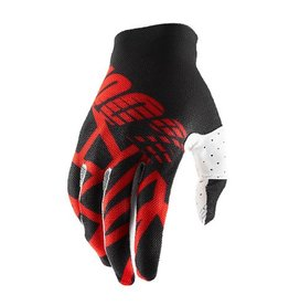 100% 100% Celium 2 Glove Black/Red/White