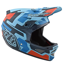 Troy Lee Designs Troy Lee D3 Fiberlite Speedcode Blue/Black XS