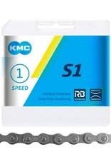 KMC KMC S1 Chain  1/2'' X 1/8'' Silver