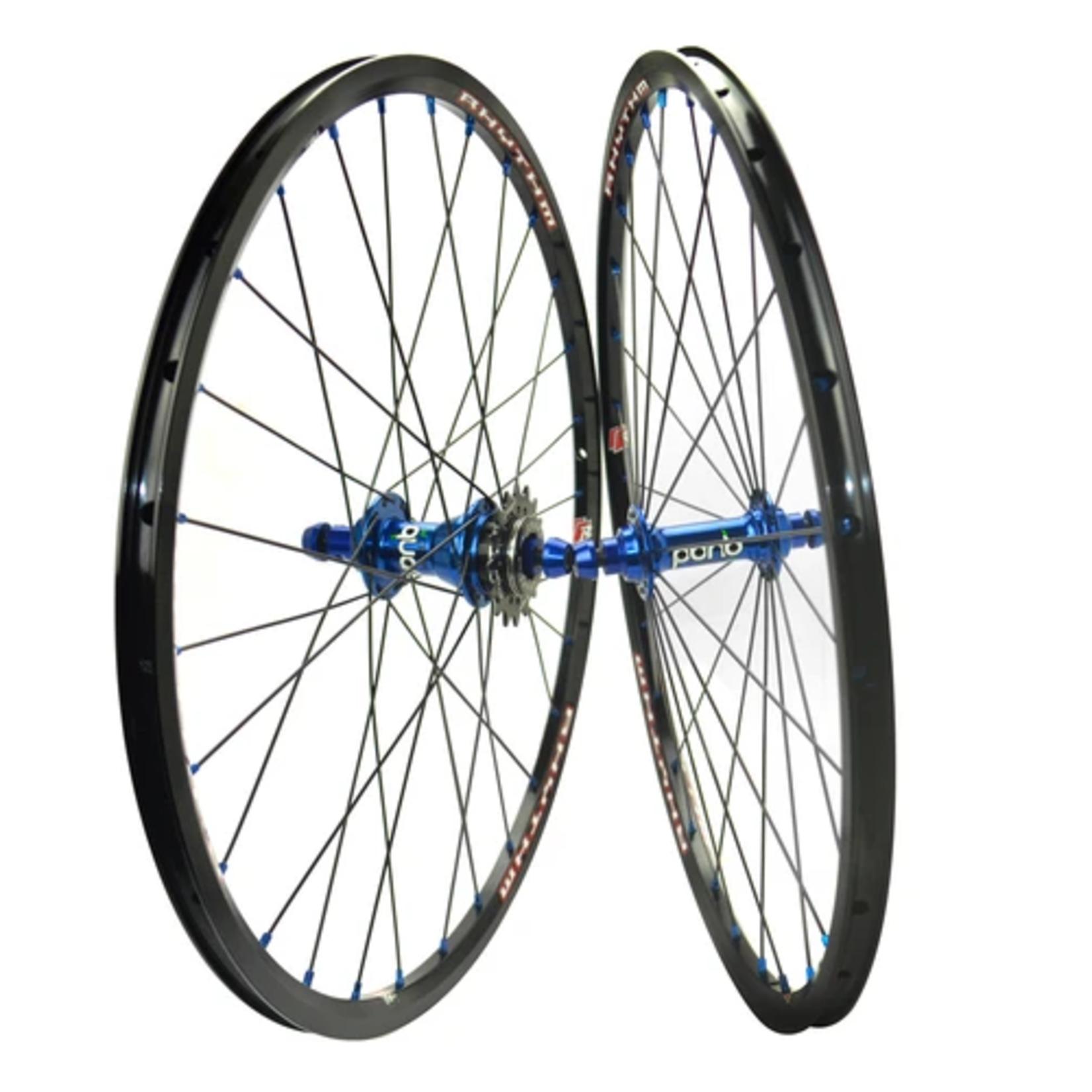 Crupi Crupi Mini Wheelset 20x1.1/8 Black/Blue