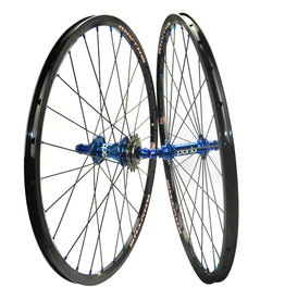 Crupi Crupi Mini Wheelset 20x1.1/8 Black/Blue