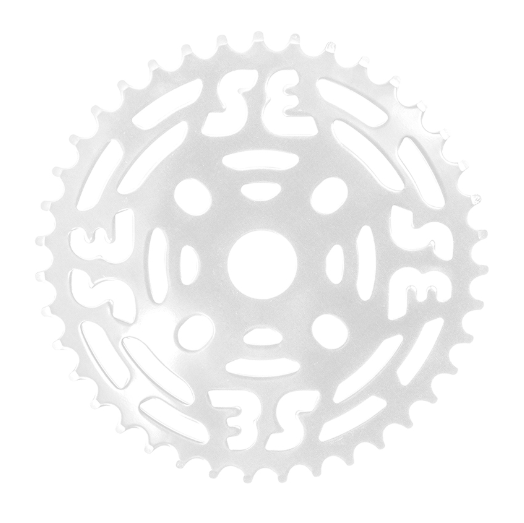 Se Racing One Piece Steel Chainring 39T White