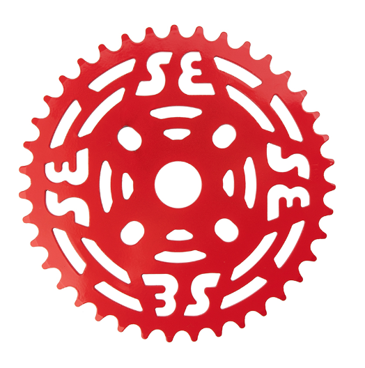 Se Racing One Piece Steel Chainring 39T Red