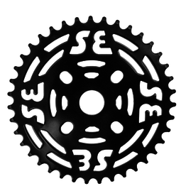 Se Racing One Piece Steel Chainring 39T Black
