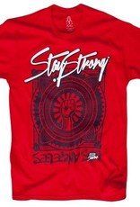 Stay Strong Stay Strong Power T-Shirt Red ADT Large