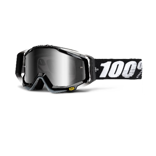 100% 100% Racecraft Goggle Abyss Black/Mirror Silver Lens