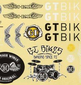 GT Bicycles GT Bmx Aftermarket Decal Sheet 2 pc