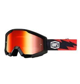 100% 100% Strata Goggle Slash/Mirror Red Lens