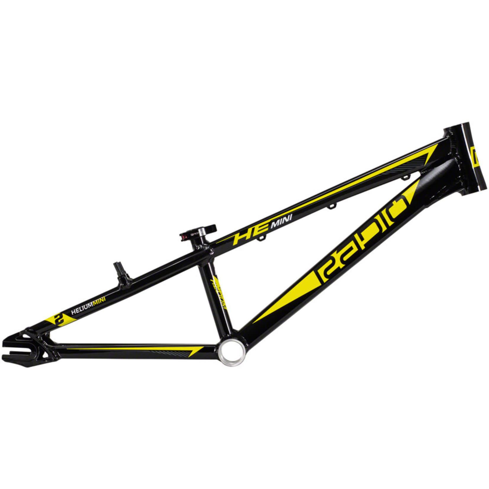 "Radio Radio Helium BMX Race Frame - Mini, 17.6"" TT, Black"