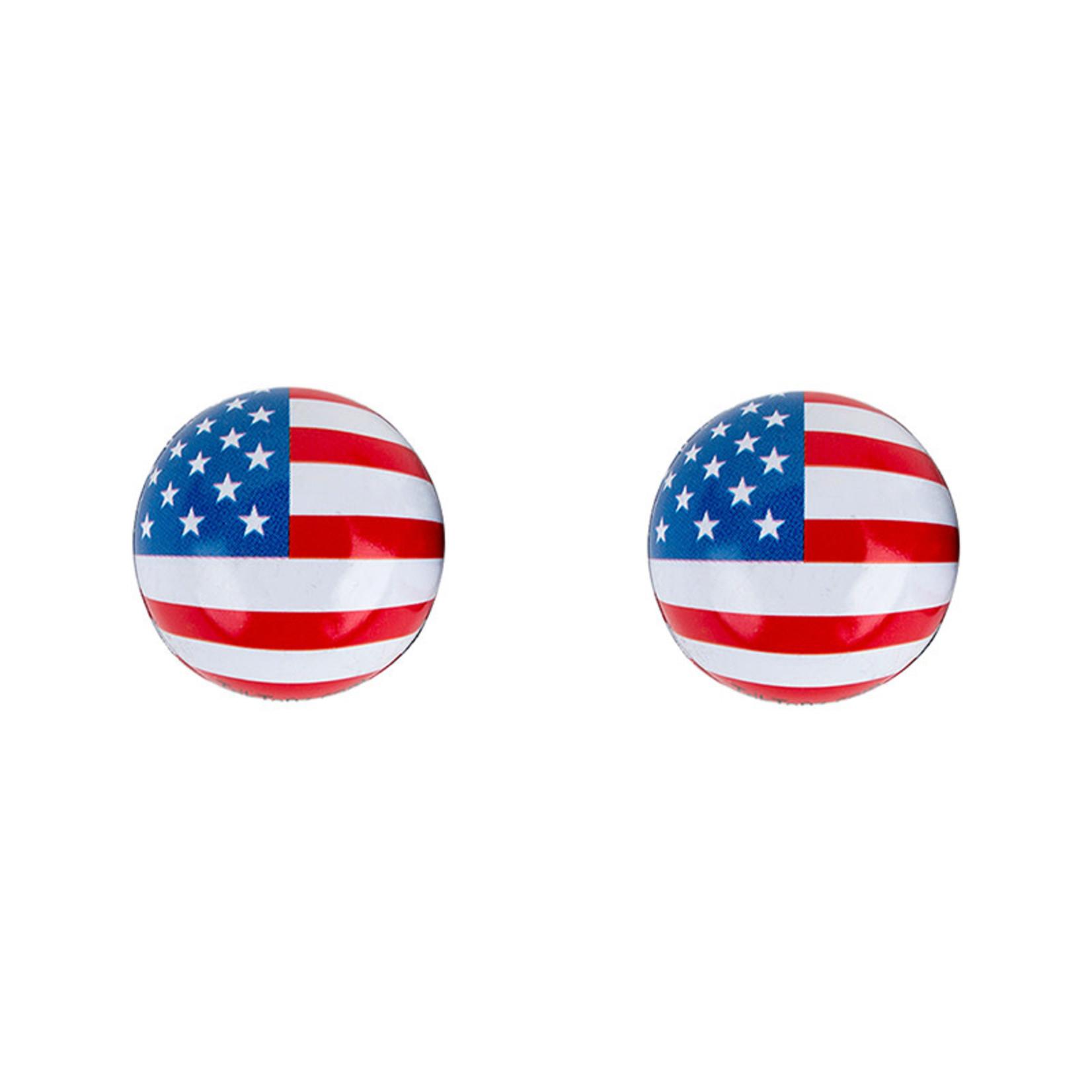 VALVE CAPS TRIKTOPZ FLAG USA 1pr/PK
