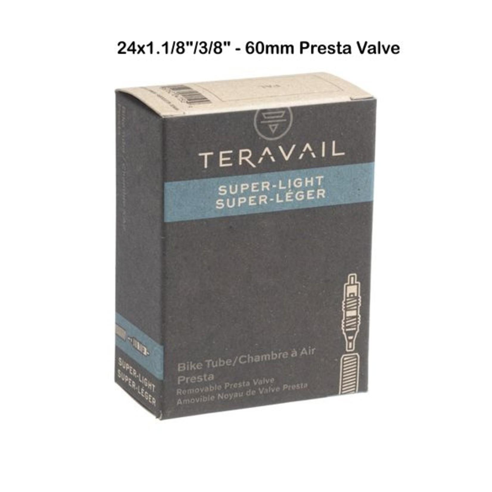 "Teravail Superlight 24x 1-1/8"" -1-3/8"" 60mm PV"