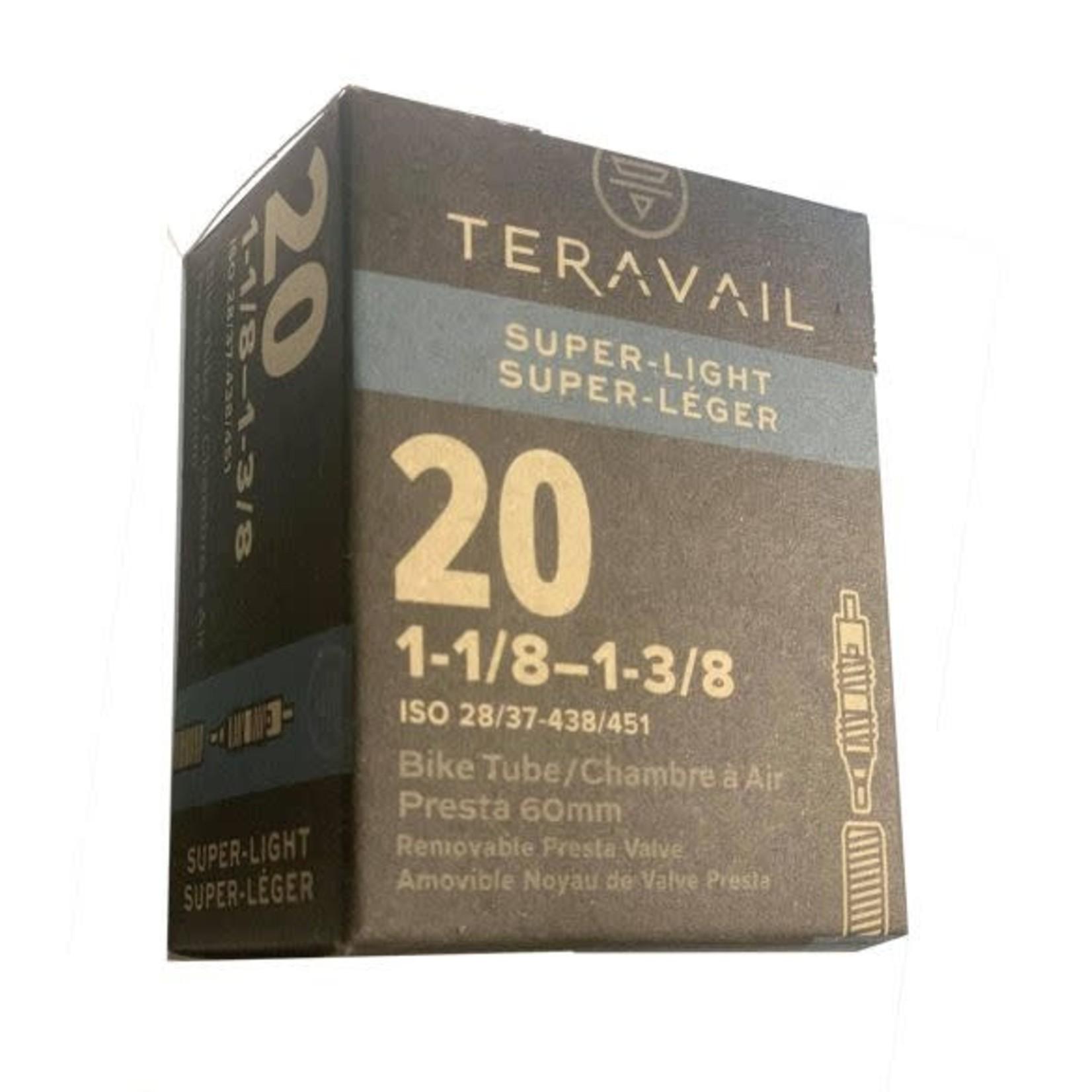 "Teravail Superlight 20x 1-1/8""-1-3/8""  60mm PV"