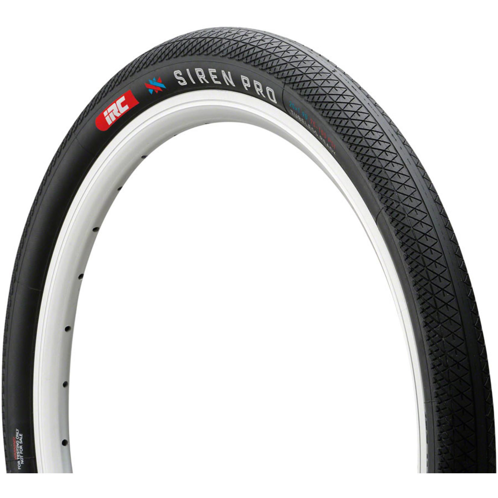 "IRC Tires IRC Tire Siren Pro Tire - 20 x 1.75""  Tubeless  Folding  Black 100Psi"