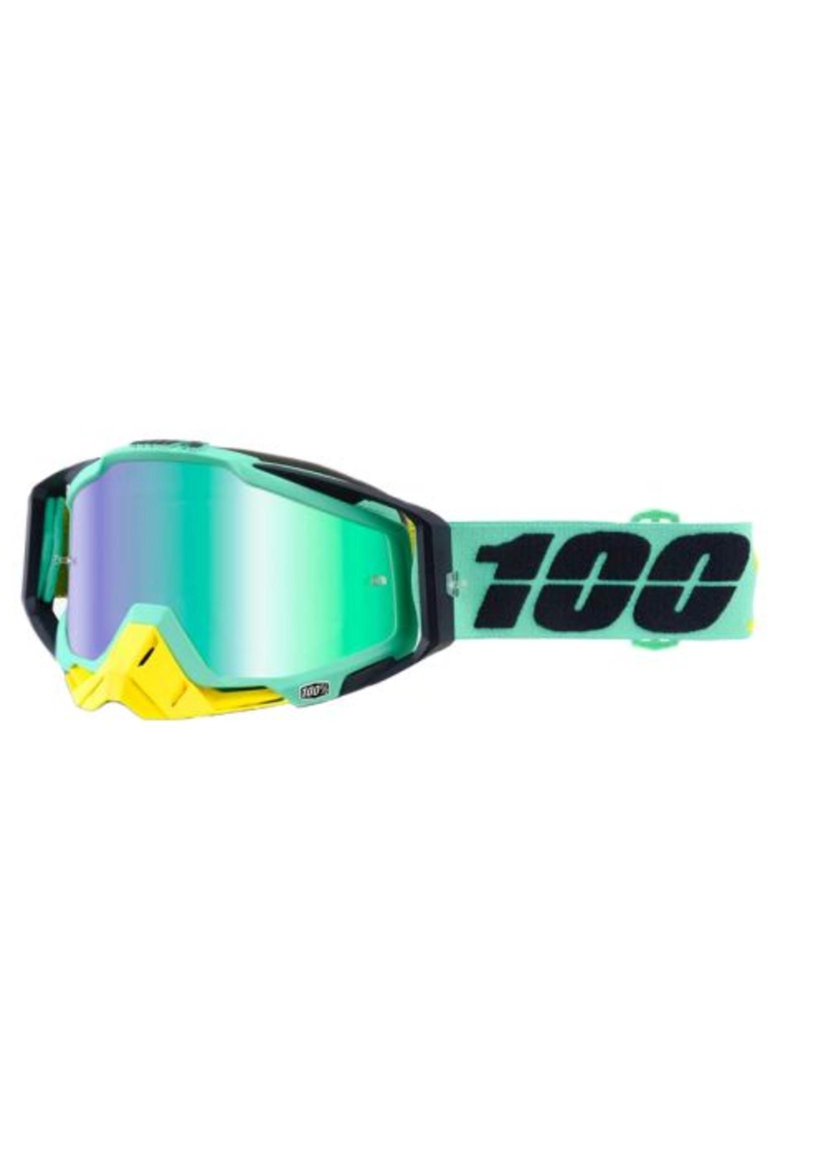 100% 100% Racecraft Goggle Kloog Mirror Green Lens