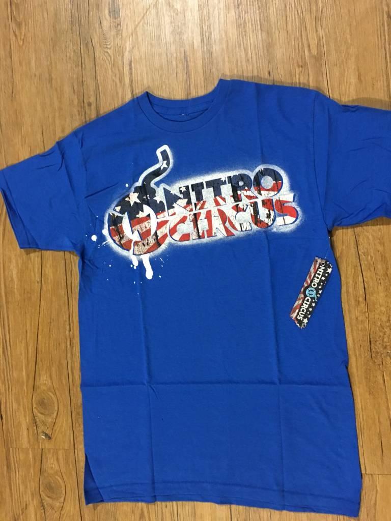 Nitro Circus Classic Spray Tee Blue Medium
