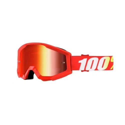 100% 100% Strata Jr Goggle Furnace Mirror Red Lens