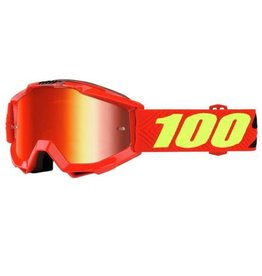 100% 100% Accuri Goggle Saarinen/Mirror Red Lens