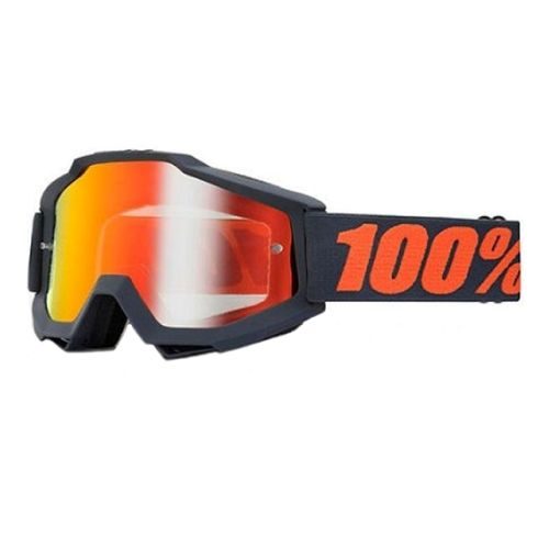 100% 100% Accuri Goggle Matte Gunmetal/ Mirror Red Lens