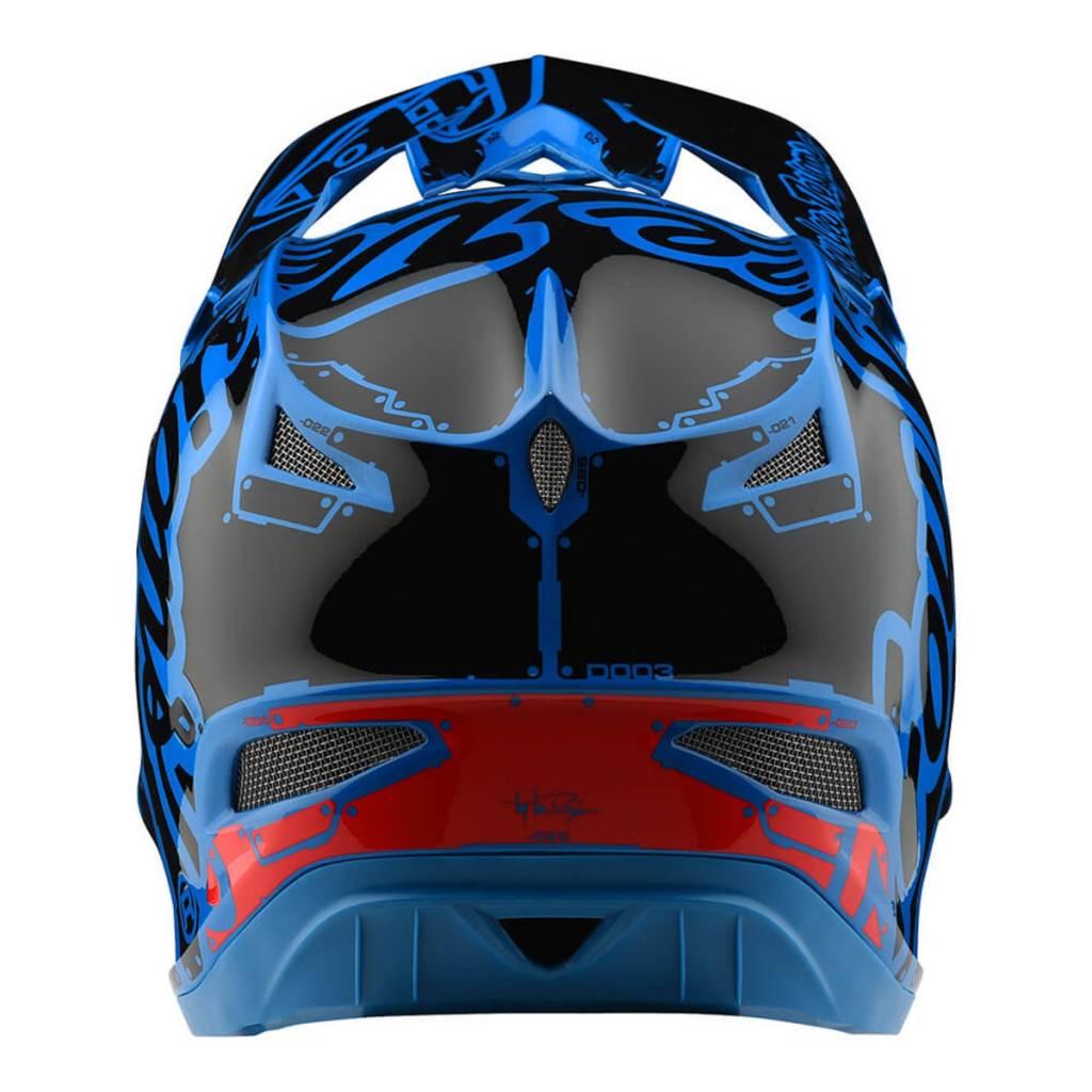Troy Lee Designs Troy Lee D3 Fiberlite Helmet Factory Ocean Blue