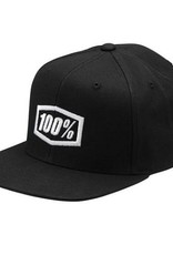 100% 100% Classic Snapback Youth Hat Black