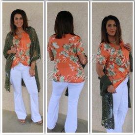 Orange You In Love Floral Top