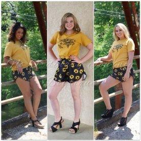 Sassy Sunflower Shorts