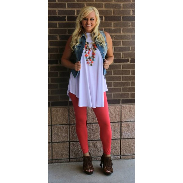 c309df14aad8a White Sleeveless Tunic Top - NOJ Boutique