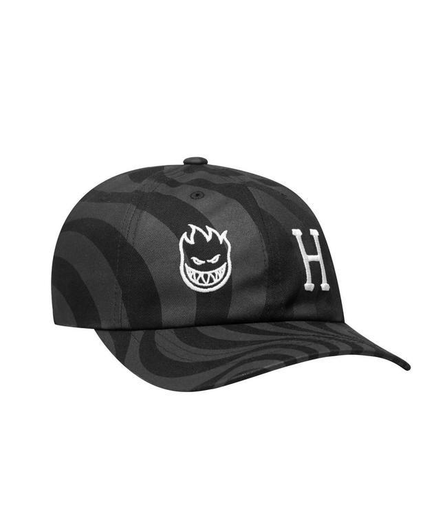 HUF x Spitfire Swirl Curved Visor Hat - Black  4c3b4b683108