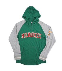 MITCHELL AND NESS BUCKS SLUGFEST LIGHTWEIGHT HOODIE