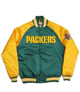 MITCHELL AND NESS PACKERS TOUGH SEASON SATIN JACKET