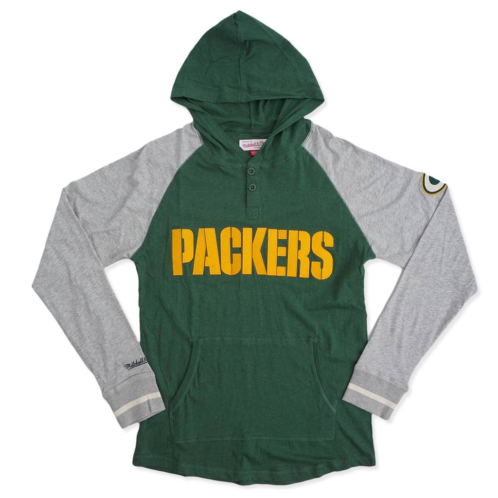 more photos a797e 1ac7d Mitchell & Ness Green Bay Packers Slugfest Lightweight Hoodie - Green