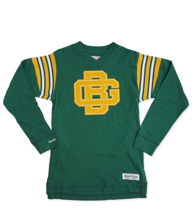 MITCHELL AND NESS Packers Team Captain V-Neck Long Sleeve