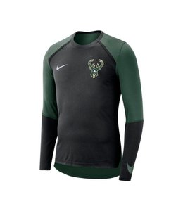 NIKE BUCKS DRI-FIT LONG SLEEVE SHOOTER SHIRT