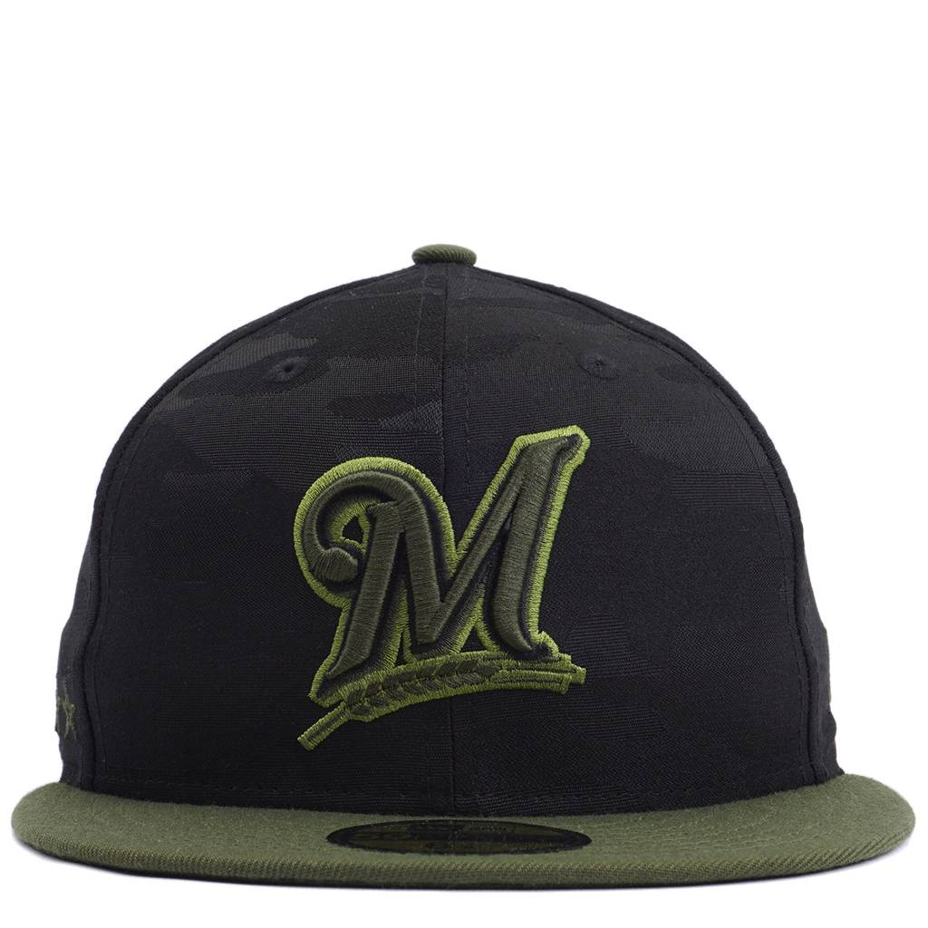 cbf02f2b New Era Milwaukee Brewers Memorial Day 59Fifty Fitted Hat - Black