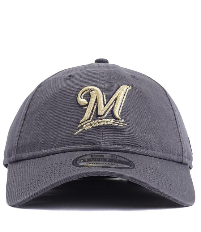 02f0a2eaa75 New Era Milwaukee Brewers Core Classic 9TWENTY Hat - Graphite - MODA3