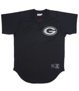 MITCHELL AND NESS PACKERS FINAL SECONDS MESH V-NECK