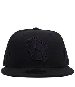 NEW ERA BUCKS STATE BLACKOUT SNAPBACK HAT