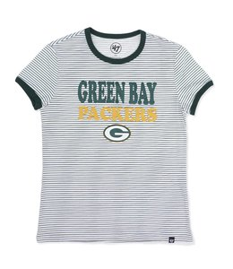 '47 BRAND PACKERS WOMEN'S STRIPED RINGER TEE