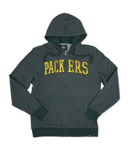 '47 BRAND PACKERS TOP GRAIN FULL-ZIP HOODIE