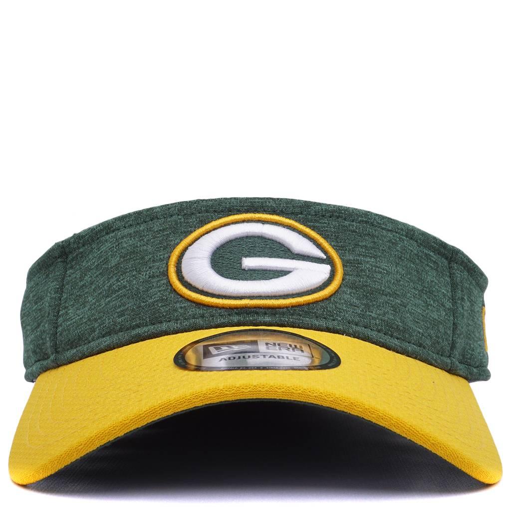 88e5a7bd New Era Green Bay Packers Official Sideline Visor - Green
