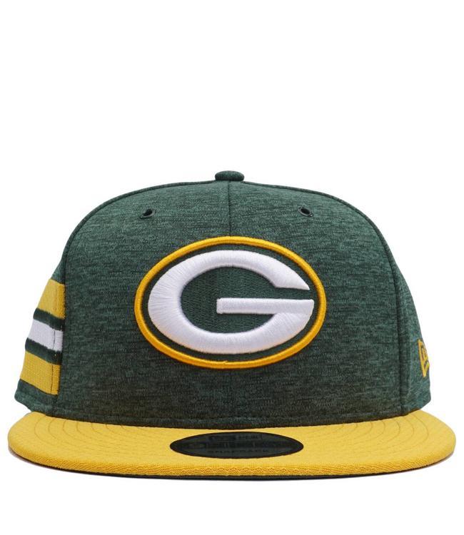6359ef55525 New Era Green Bay Packers Sideline Home Snapback Hat - Green Gold ...