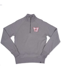 '47 BRAND BADGERS HEADLINE 1/4 ZIP CREW