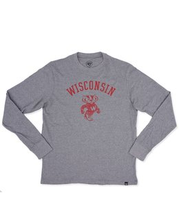 '47 BRAND BADGERS SUPER RIVAL LONG SLEEVE TEE
