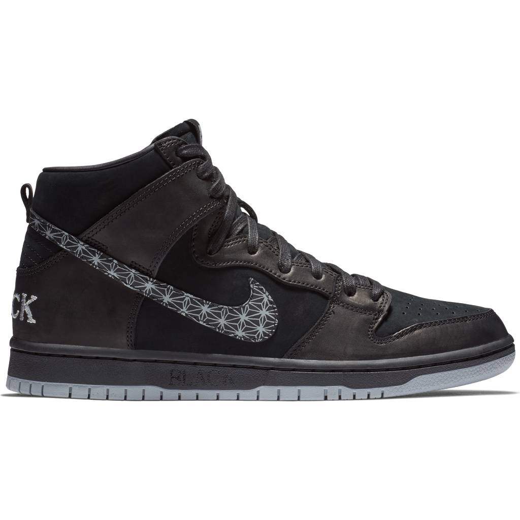 be3bad850b12a ... Nike SB Zoom Dunk High Pro QS Black Bar - Black Black-Wolf Grey ...