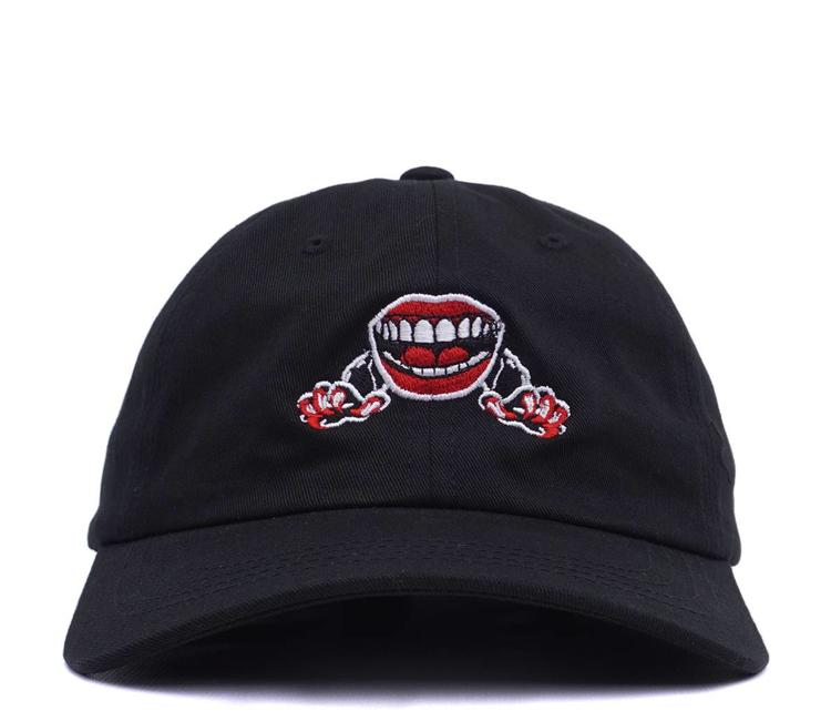 The Quiet Life Venom Lips Dad Hat - Black - MODA3 f6071c4ccf2